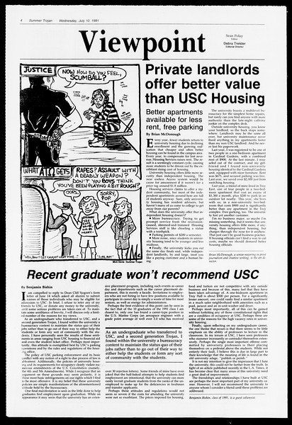 Summer Trojan, Vol. 115, No. 9, July 10, 1991
