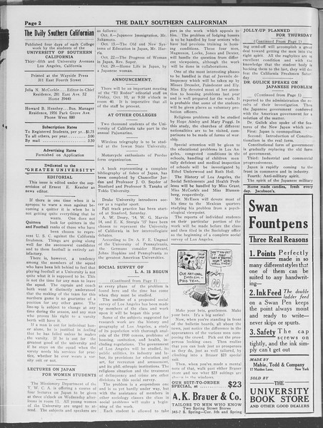 The Daily Southern Californian, Vol. 3, No. 16, October 08, 1913