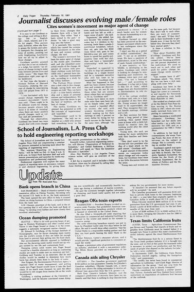 Daily Trojan, Vol. 90, No. 11, February 19, 1981
