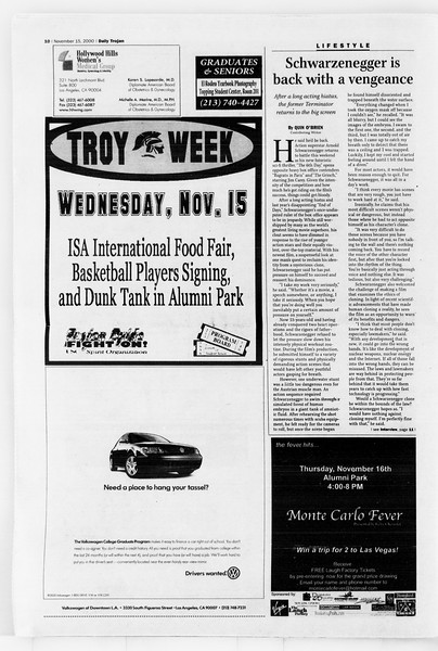 Daily Trojan, Vol. 141, No. 55, November 15, 2000