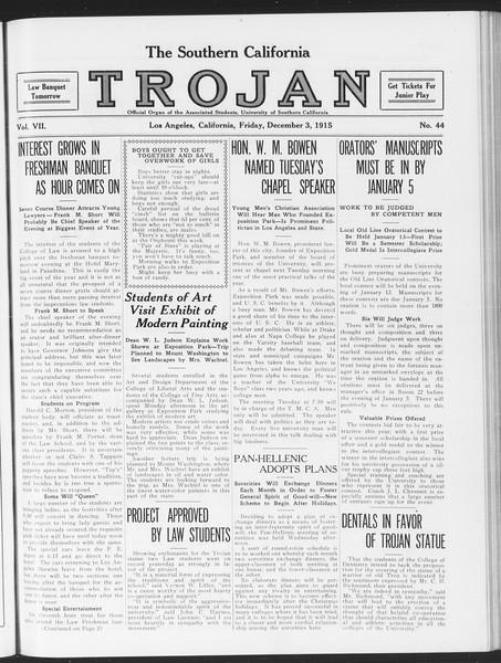 The Southern California Trojan, Vol. 7, No. 44, December 03, 1915