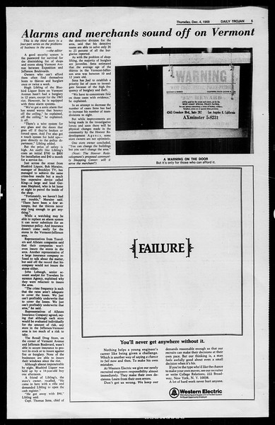 Daily Trojan, Vol. 61, No. 54, December 04, 1969