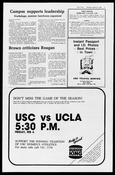Daily Trojan, Vol. 90, No. 2, February 05, 1981