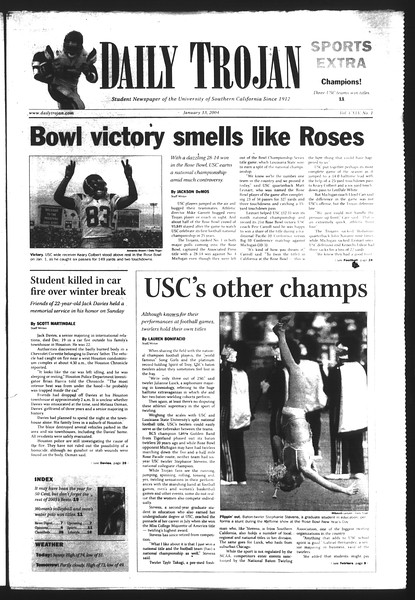 Daily Trojan, Vol. 151, No. 1, January 13, 2004