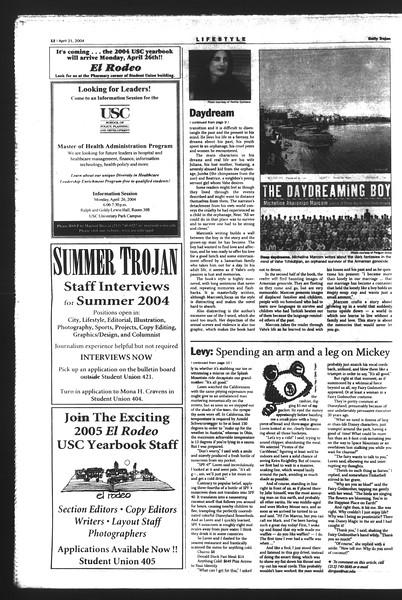 Daily Trojan, Vol. 151, No. 61, April 21, 2004