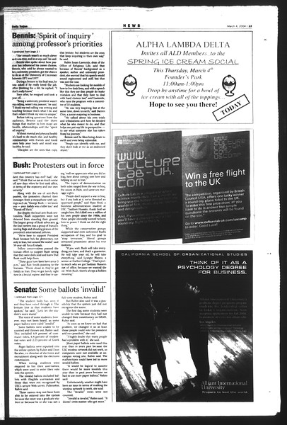 Daily Trojan, Vol. 151, No. 34, March 04, 2004
