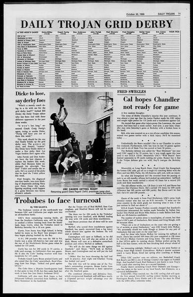 Daily Trojan, Vol. 61, No. 34, October 30, 1969