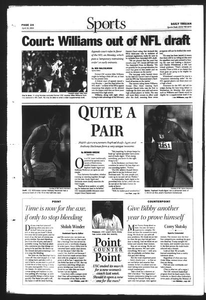 Daily Trojan, Vol. 151, No. 60, April 20, 2004