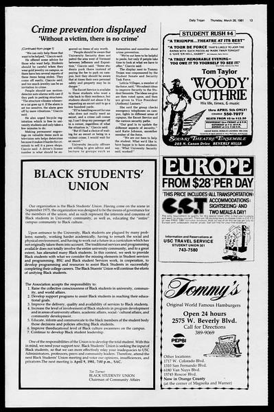 Daily Trojan, Vol. 90, No. 34, March 26, 1981