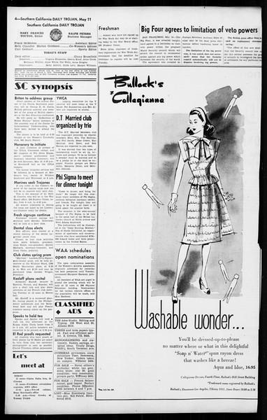 Daily Trojan, Vol. 36, No. 120, May 11, 1945