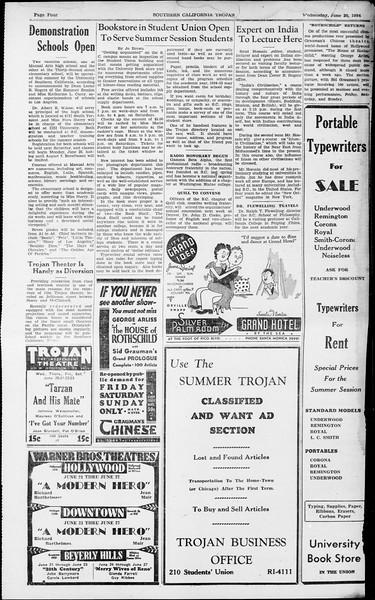 Southern California Trojan, Vol. 13, No. 1, June 20, 1934