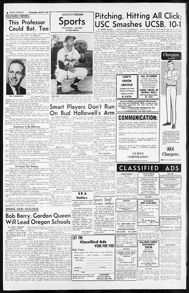 Daily Trojan, Vol. 55, No. 108, April 29, 1964