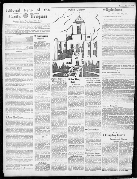 Daily Trojan, Vol. 26, No. 90, March 07, 1935