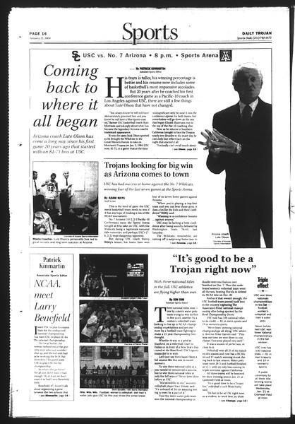 Daily Trojan, Vol. 151, No. 3, January 15, 2004