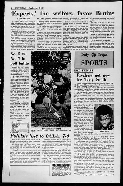 Daily Trojan, Vol. 61, No. 46, November 18, 1969