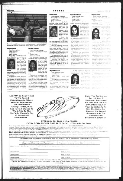 Daily Trojan, Vol. 151, No. 27, February 24, 2004