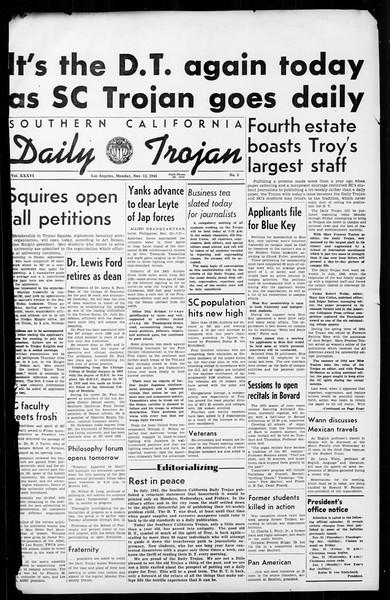 Daily Trojan, Vol. 36, No. 5, November 13, 1944
