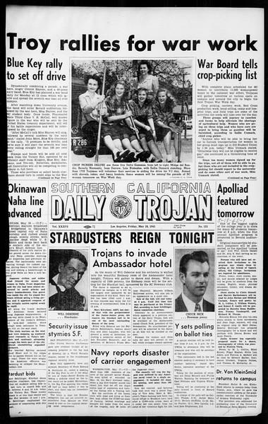 Daily Trojan, Vol. 36, No. 125, May 18, 1945