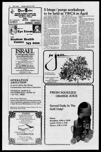 Daily Trojan, Vol. 90, No. 33, March 24, 1981