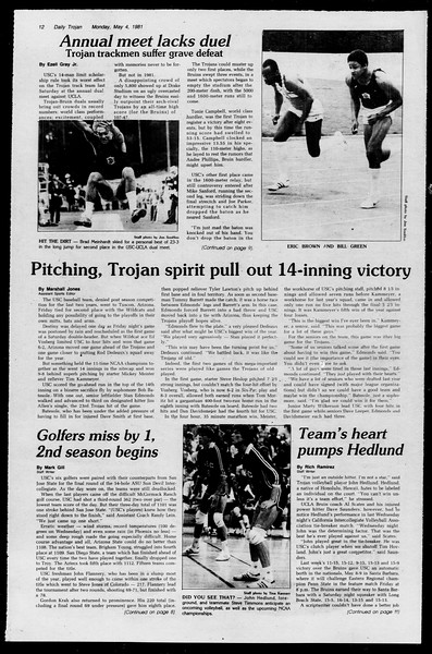 Daily Trojan, Vol. 90, No. 54, May 04, 1981