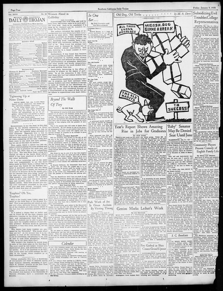 Daily Trojan, Vol. 26, No. 58, January 04, 1935