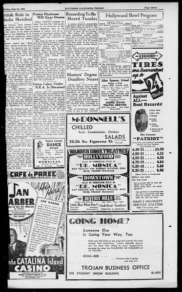 Southern California Trojan, Vol. 13, No. 10, July 20, 1934