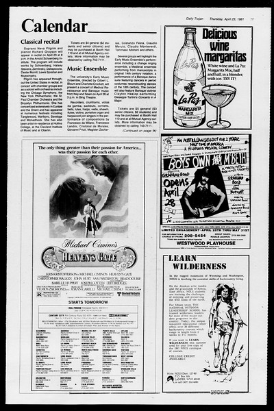 Daily Trojan, Vol. 90, No. 47, April 23, 1981