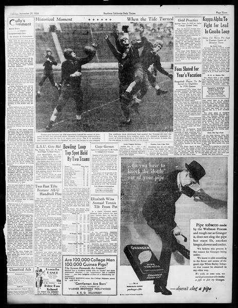 Daily Trojan, Vol. 26, No. 41, November 20, 1934
