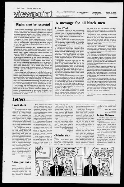 Daily Trojan, Vol. 90, No. 18, March 02, 1981
