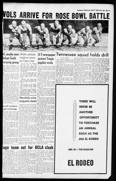 Daily Trojan, Vol. 36, No. 33, December 22, 1944