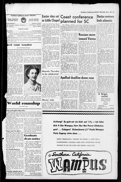 Daily Trojan, Vol. 36, No. 89, March 29, 1945
