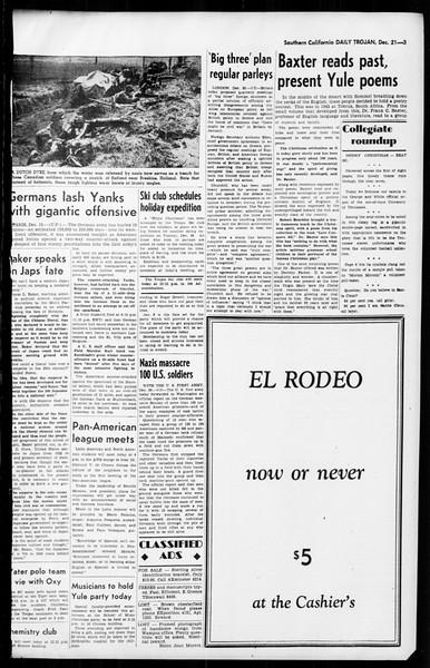 Daily Trojan, Vol. 36, No. 32, December 21, 1944