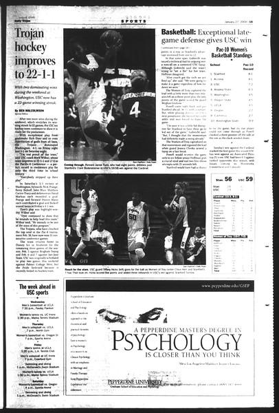 Daily Trojan, Vol. 151, No. 9, January 27, 2004