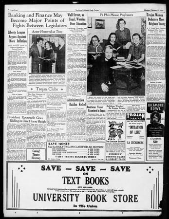 Daily Trojan, Vol. 26, No. 82, February 25, 1935