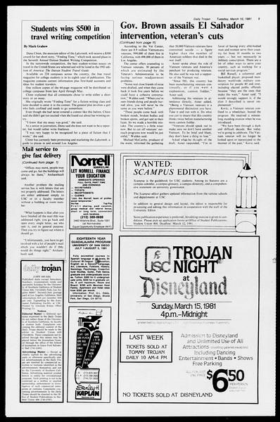 Daily Trojan, Vol. 90, No. 23, March 10, 1981