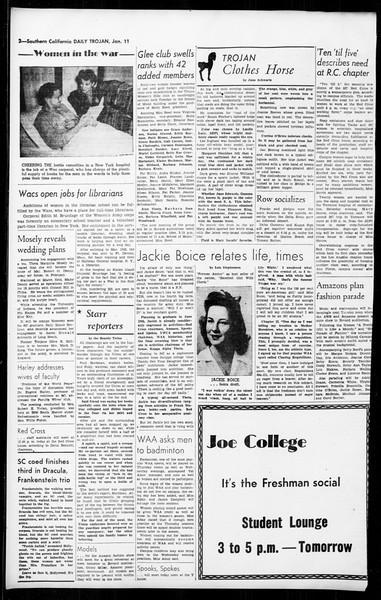 Daily Trojan, Vol. 36, No. 44, January 11, 1945