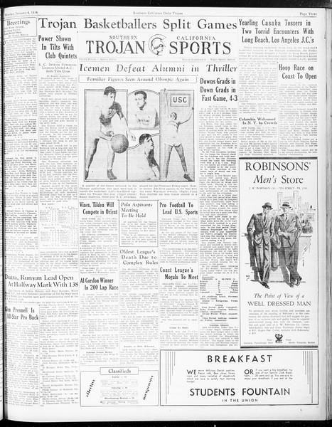 Daily Trojan, Vol. 25, No. 58, January 08, 1934