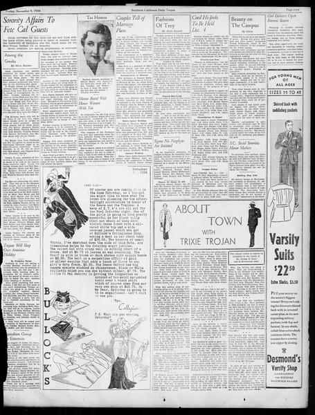 Daily Trojan, Vol. 26, No. 35, November 09, 1934