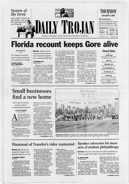 Daily Trojan, Vol. 141, No. 51, November 09, 2000