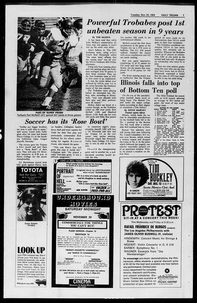 Daily Trojan, Vol. 61, No. 51, November 25, 1969