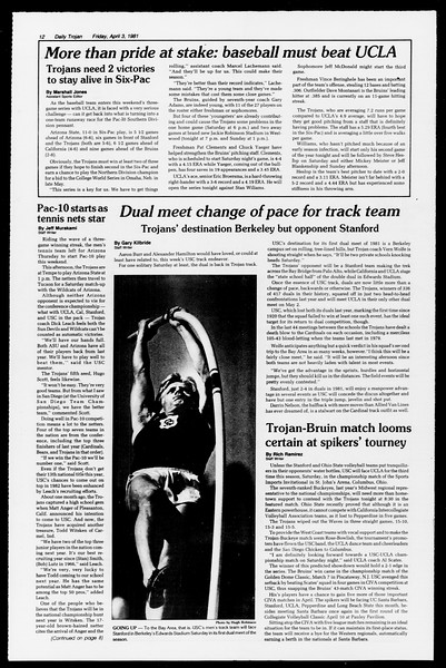Daily Trojan, Vol. 90, No. 40, April 03, 1981