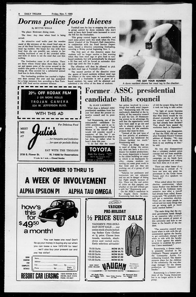 Daily Trojan, Vol. 61, No. 39, November 07, 1969