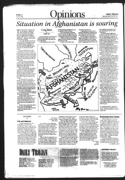 Daily Trojan, Vol. 151, No. 52, April 08, 2004
