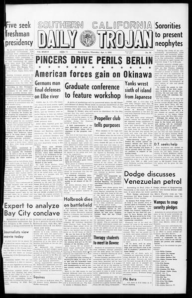 Daily Trojan, Vol. 36, No. 94, April 05, 1945