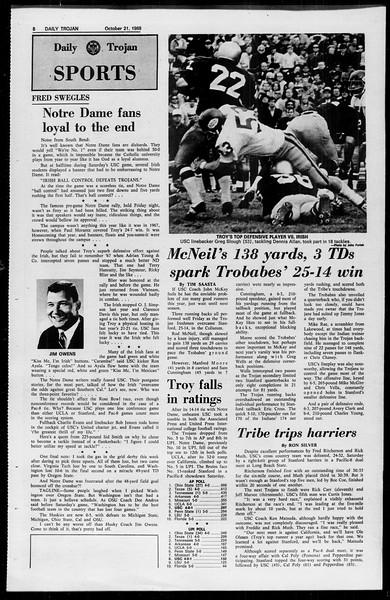 Daily Trojan, Vol. 61, No. 27, October 21, 1969