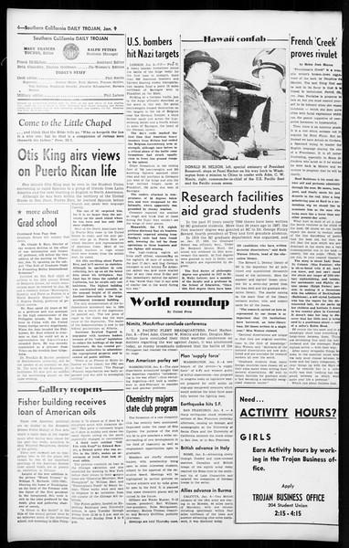 Daily Trojan, Vol. 36, No. 42, January 09, 1945