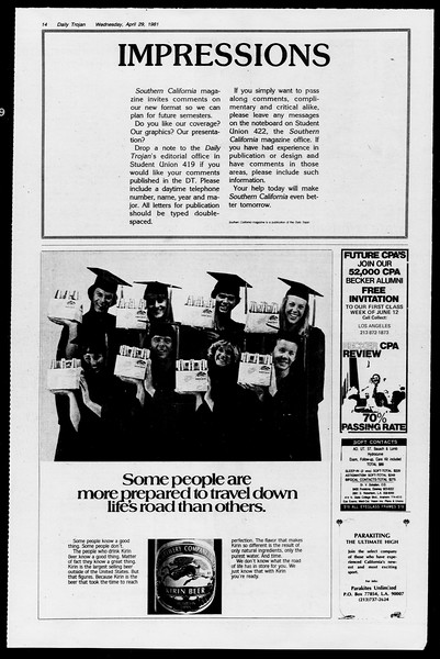 Daily Trojan, Vol. 90, No. 51, April 29, 1981