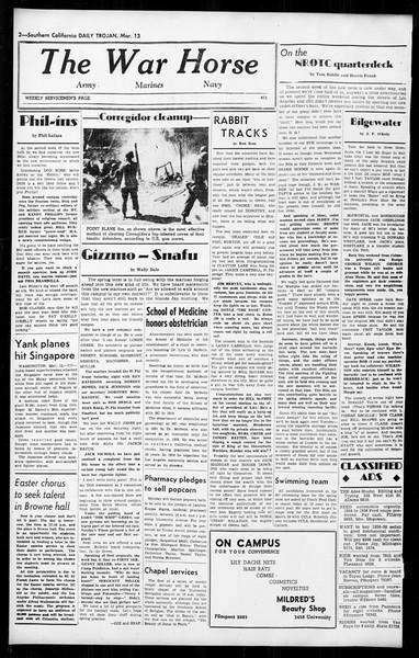 Daily Trojan, Vol. 36, No. 77, March 13, 1945