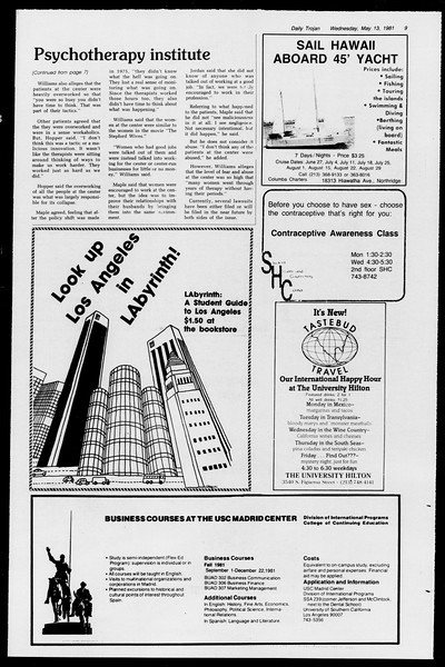 Daily Trojan, Vol. 90, No. 61, May 13, 1981