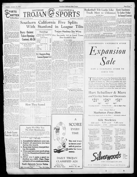 Daily Trojan, Vol. 26, No. 64, January 14, 1935